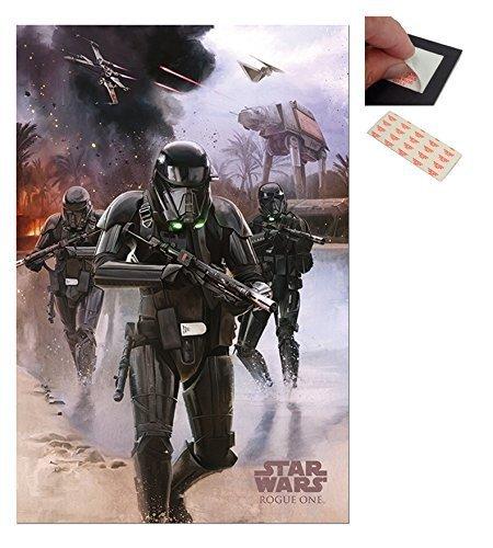 garnitur-2-artikel-star-wars-rogue-eine-death-trooper-am-strand-plakat-915-x-61cm-36-x-24-zoll-und-e