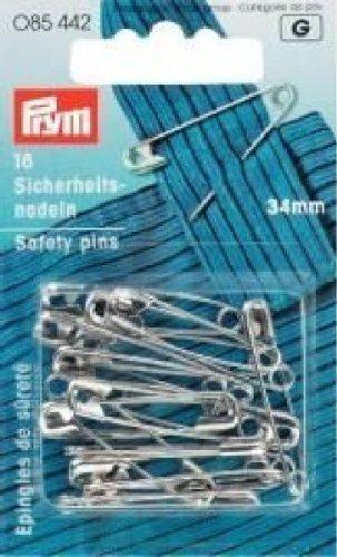 PRYM Sicherheitsnadeln, silber, 34mm