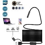 niceEshop(TM) Endoscopio Andriod,1200P HD Micro USB/Type-c/ USB 3 en 1 Endoscopio Impermeable Boroscopio Cámara Serpiente Suave HD Cable,10M