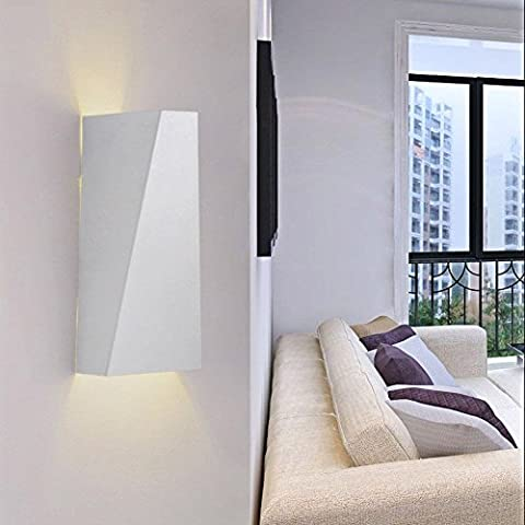 Lightess LED Wall Light Sconce Fixture Up and Down Wall Lights Night Light Creative Decorative Wall Lamp Lighting for Bedroom, Living Room, Corridor Wall Pathway, Staircase, Balcony, Garden, Warm White