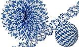 Amscan 1004 Deko-Set Bayern, blau