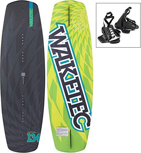 WAKETEC Wakeboard HighRide 134 cm OnSet Package mit leichter Universal-Bindung, Größe:S-M