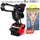 #2: Mobile Holder For Bike And Cycle By Meya Happy | Shockproof And 360 Degree Rotation | With Headphones Worth Rs 200/-