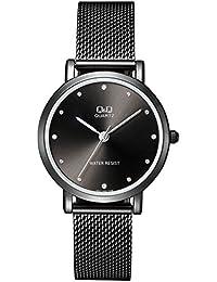 08ac3d3ff160 Reloj de moda para mujer negro ionizado Q Q by Citizen QA21J402Y