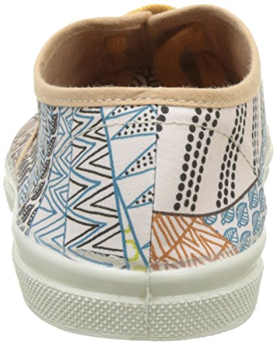 Bensimon Tennis Lacet Imprimes, Baskets Basses Femme Rose (Rose)