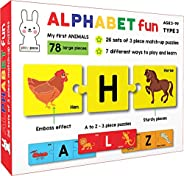 Play Poco Alphabet - Fun My First Animals - 78 Piece Alphabet Matching Puzzle - 7 Different Ways to Play and L