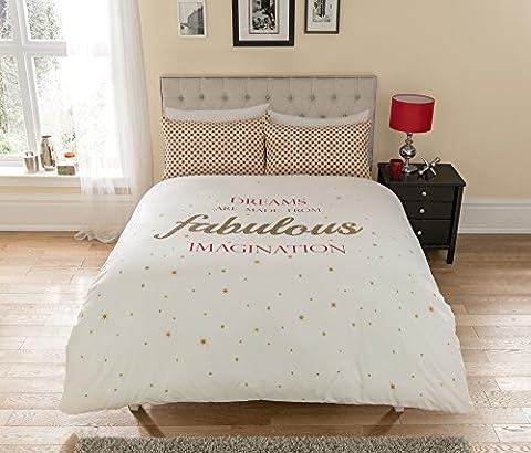 """Pieridae Bettbezug """"Fabulous"""" Set Kissenbezüge Bettwäsche, verfügbar für Einzelbett / Doppelbett, Weiß, King (Ge Quilt Designs)"""