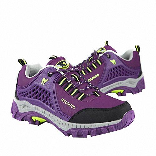 Ben Sports Trekking Wanderhalbschuhe Traillaufschuhe Outdoor Fitnessschuhe Herren Damen,35-46 Lila