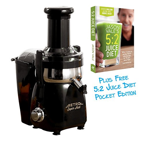 retro-super-fast-black-centrifugal-700-watt-juicer-with-anti-drip-cap-easy-to-clean-parts-and-left-a