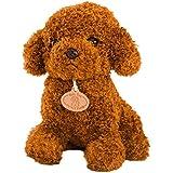 STOBOK Tempo di Letto Baby Bambini Che dormono Peluche Doggy Giocattoli Carino Morbido Peluche Barboncino Teddy Dog Figure (Marrone Chiaro)