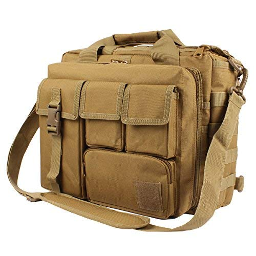GES Multifunktion Herren Dame Outdoor Militärische Taktische Nylon Schulter Laptop Umhängetasche Aktentasche Handtaschen Laptop Tasche Schultasche Große Genug für 15.6