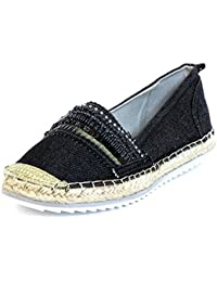 Mujeres Zapatos llanos negro, (schwarz) 011018F4T BLBL
