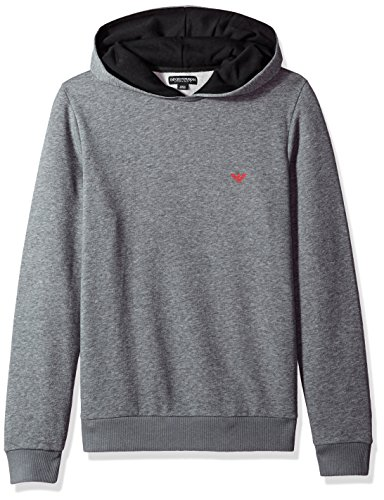 Emporio Armani Pull Over Lounge Hooded Top LARGE GREY