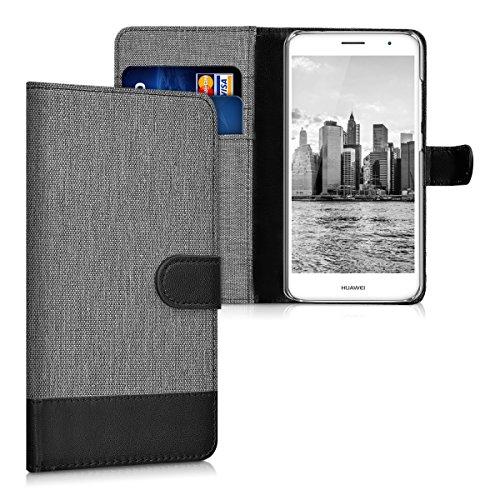 kwmobile Huawei Nova Plus Hülle - Kunstleder Wallet Case für Huawei Nova Plus mit Kartenfächern & Stand