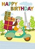 2 por 1 Oferta !!! ScooterHappy Birthday tarjeta de felicitación porSabinaMandelli