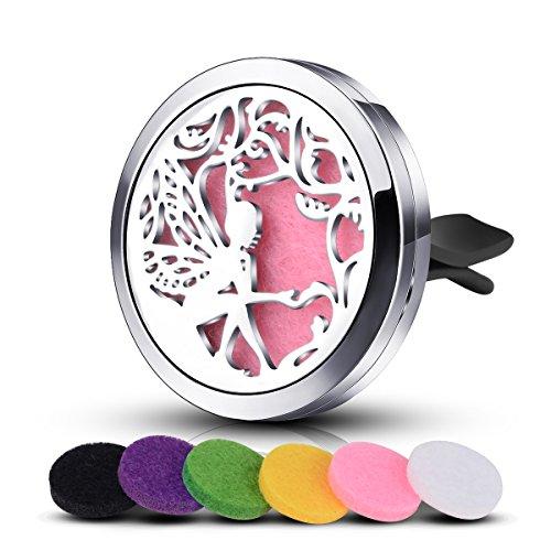 Medaglione-infuseu-auto-deodorante-Aromaterapia-Olio-Essenziale-Diffusore-Acciaio-inox-6-miscelato-colore-Pads