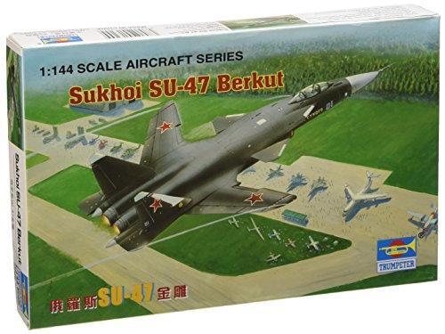 Trumpeter 01324 Modelos de Aviones Sukhoi Su-47 Berkut Escala 1: 144
