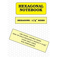 Hexagonal Notebook: 1/4 inch hexagons, 120 pages