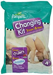 Pampers Cruisers Changing Kit Size 4 Unscented (Pack of 10)