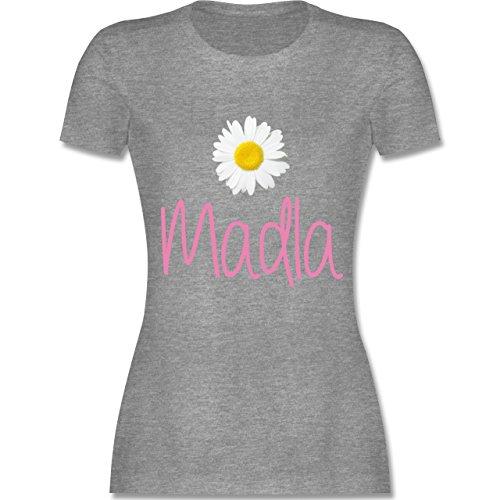 Bayern Frauen - Madla Margerite - L191 tailliertes Damen Frauen T-Shirt Grau Meliert