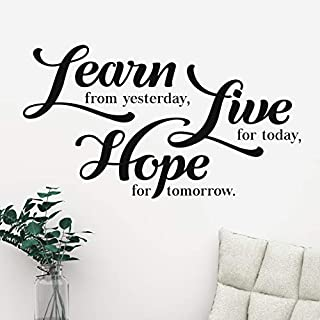 Learn Live Hope Wall Quote Motivational Home Wall Decor Vinyl Sticker Gym Decal Mural Art Inspire