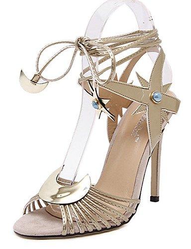 WSS 2016 Chaussures Femme-Décontracté-Argent / Or-Talon Aiguille-Talons-Chaussures à Talons-Polyuréthane golden-us7.5 / eu38 / uk5.5 / cn38