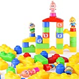 LILICAT Enfants Coloré Briques Blocs de Construction Creative Éducatif intelligence Jouet Cadeaux Enfants intelligence orthographe parc d'attractions blocs de construction jouets (Multicolore)