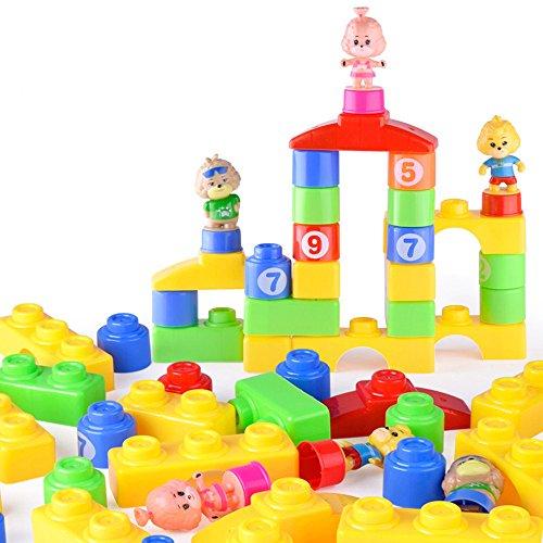 ❤️LILICAT Enfants Coloré Briques Blocs de Construction Creative Éducatif Intelligence Jouet Cadeaux Enfants Intelligence orthographe Parc d'attractions Blocs de Construction Jouets (Multicolore)