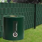 M-tec Profi-line ® PVC Sichtschutzstreifen in bewährter Zaunbauerqualität: 65 m x 23,5 cm ✔ moosgrün ✔   Nach M-tec technology Rezeptur hergestellt  
