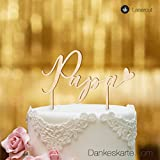 Dankeskarte.com Cake Topper Papa - Buchenholz - XL