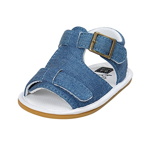 Scarpe per bambini Koly_Neonati maschi sandali del pattino pattini casuali molli antiscorrimento Sole Sneaker (SIZE13=Age:12~18 Month, Blue)