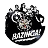 Bazinga Vinyl Uhr Weihnachtsgeschenk für Big Bang Theory Fans
