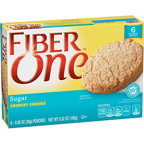 fiber-one-cookies-crunchy-sugar-cookie-092-oz-6-count-pack-of-8-by-fiber-one-snacks