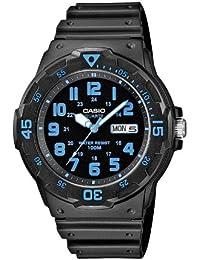 Casio MRW-200H-2BVEF - Reloj analógico de cuarzo para hombre con correa de resina, color negro