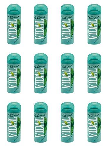 12 X Vidal White musk Schiuma Da Barba Al Muschio Bianco offerta pelle sensibile