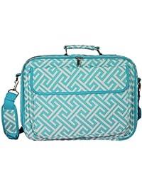 World Traveler World Traveler 17-inch Laptop Computer Case - Greek Key H Blue White Laptop Bag