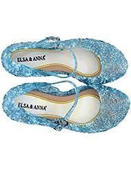 UK1stChoice-Zone Última Diseño Buena Calidad Niñas Princesa Reina de Nieve Jalea Partido Zapatos Zapatos de Fiesta sandalias (Azul, 29)