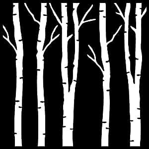 Creative Expressions Pochoir Forêt de bouleaux Beige