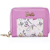 Barbie Portafoglio da Donna Ragazza Bambina in PU, Colore Nero, Rosa, 10x7x2.5cm#BBPS021