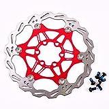 Fahrrad Bremsscheibe 160mm 6 Loch MTB Edelstahl Scheibenbremse Bremsscheiben, Fahrrad bunte Bremse Rotoren, Rot