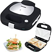 Syntrox Chef Maker SM-1500W Keramik Sandwich, Syntrox Germany Chef Maker SM-1500W Sandwichmaker mit Keramik-Beschichtung, Edelstahl und herausnehmbaren Backplatten