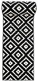 WE LOVE RUGS CARPETO Läufer Teppich Brücke Teppichläufer - Orientalisches Marokkanische - Flur Modern Designer Muster Meterware - Casablanca Kollektion von Carpeto - Schwarz Weiß - 60 x 200 cm