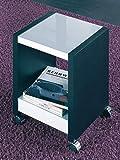Haku-Möbel 42110 Beistellwagen 35 x 35 x 45 cm, eiche schwarz/weiß