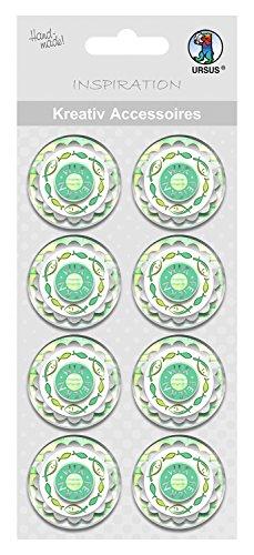 Ursus 564000353F creativos Accesorios Green Spirit, Nosotros Celebración, 8Unidades, Color Verde
