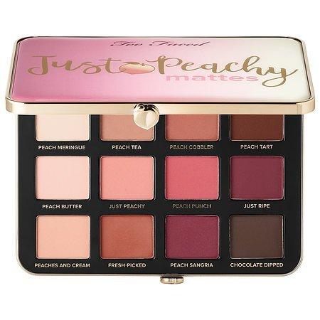 """Too Faced Palette di ombretti opachi """"Just Peachy Velvet"""" –Collezione Peaches and Cream"""