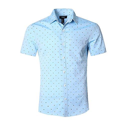 Nutexrol Herren Businesshemd Oxford Freizeithemd Kurzarm Männerhemd Grün XX-Large