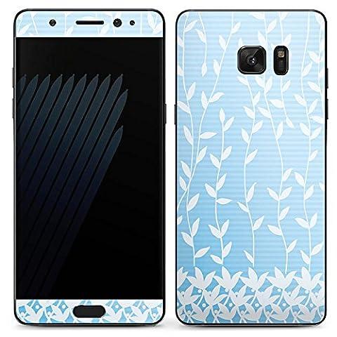 Samsung Galaxy Note 7 Case Skin Sticker aus Vinyl-Folie Aufkleber Flower Blätter Muster
