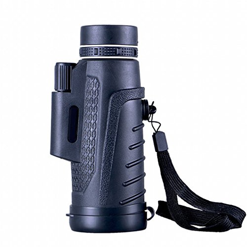 DHG Monokulares Teleskop Hochleistungs-HD 40X60 Outdoor-Reisekonzert Tragbares Stand-Teleskop,Schwarz,40x60