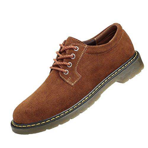 Dooxi uomo vintage affari scarpa casuale all'aperto stringate scarpe marrone 43