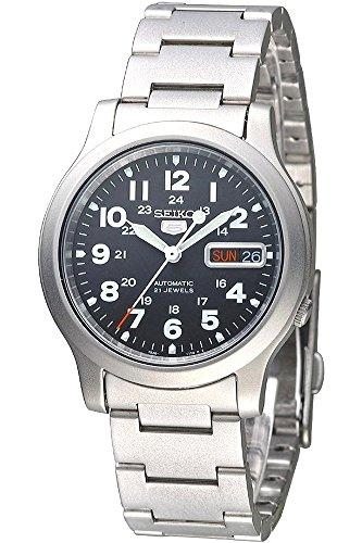 SEIKO 5 Sport SNKN25K1 Military Uhr Herren Automatik Black Hawk Metallband